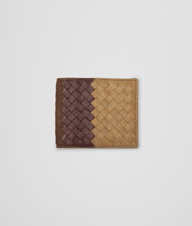 BOTTEGA VENETA New Bronze Aubergine Edoardo Intrecciato Club Fumé Wallet Bi-fold Wallet U fp