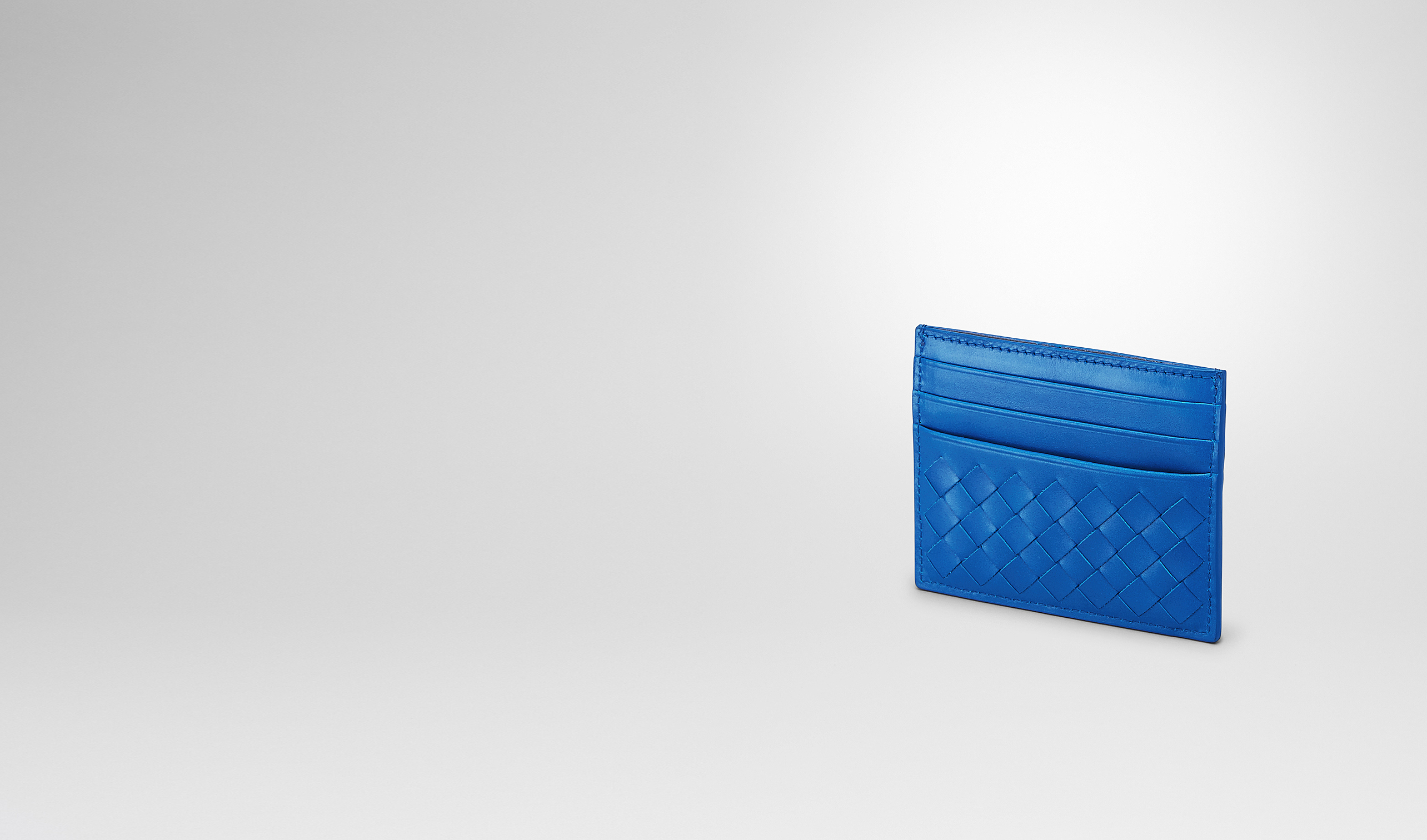 BOTTEGA VENETA Card Case or Coin Purse U SIGNAL BLUE INTRECCIATO VN CARD CASE pl
