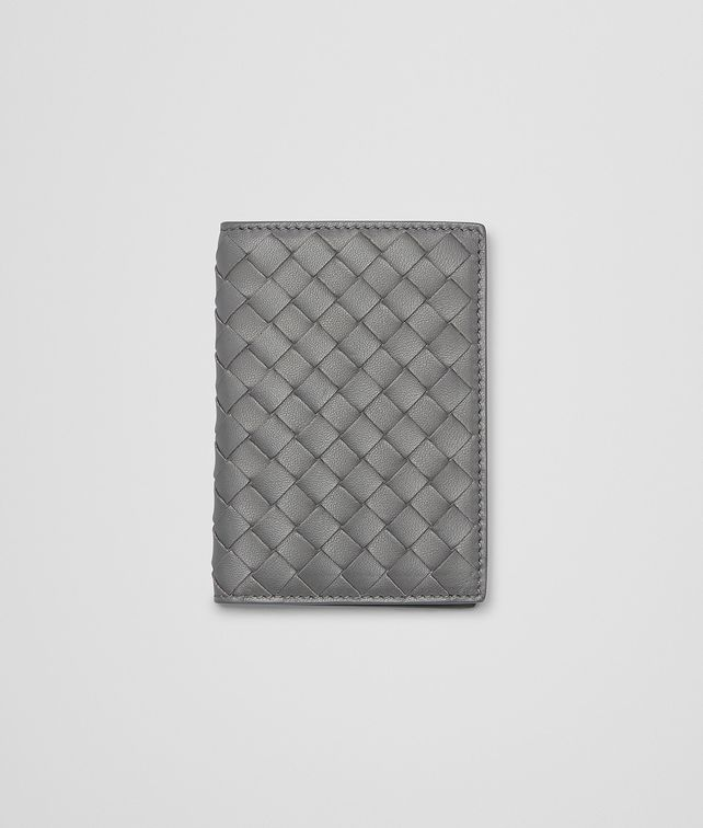 BOTTEGA VENETA NEW LIGHT GREY INTRECCIATO NAPPA CARD CASE Other Leather Accessory E fp