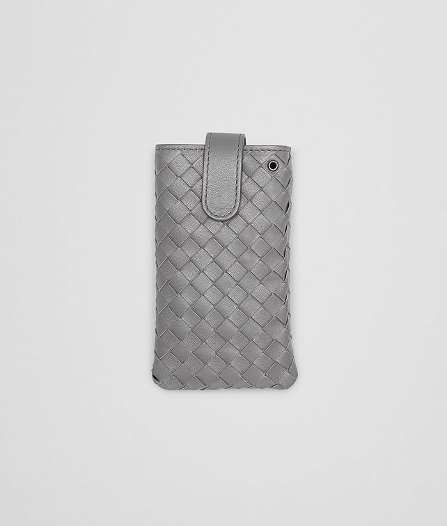 BOTTEGA VENETA IPHONE-HÜLLE AUS INTRECCIATO NAPPA IN NEW LIGHT GREY Weiteres Leder Accessoire E fp