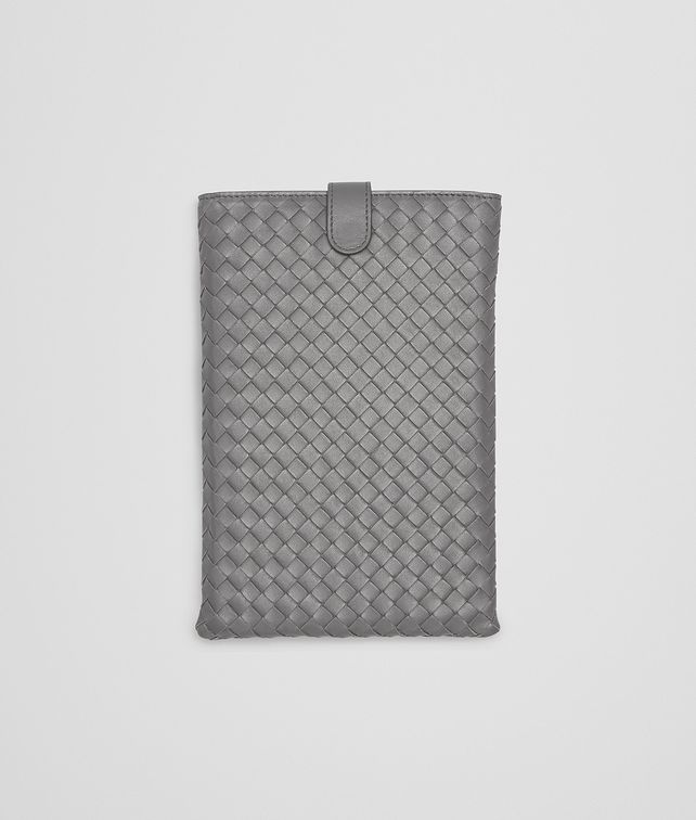 BOTTEGA VENETA CUSTODIA PER IPAD MINI NEW LIGHT GREY IN NAPPA INTRECCIATA Altro accessorio in pelle E fp