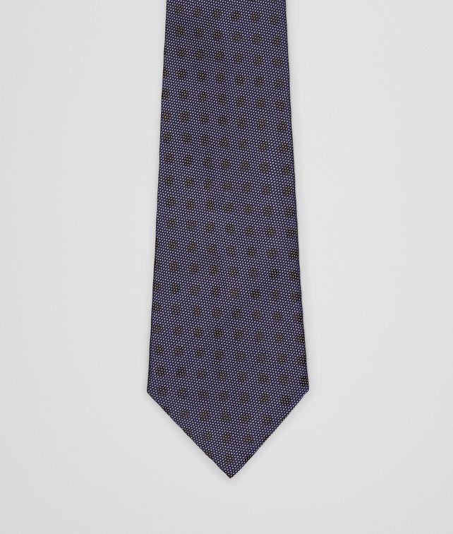 BOTTEGA VENETA SEIDENKRAWATTE SAPPHIRE UND BLACK Krawatte U fp