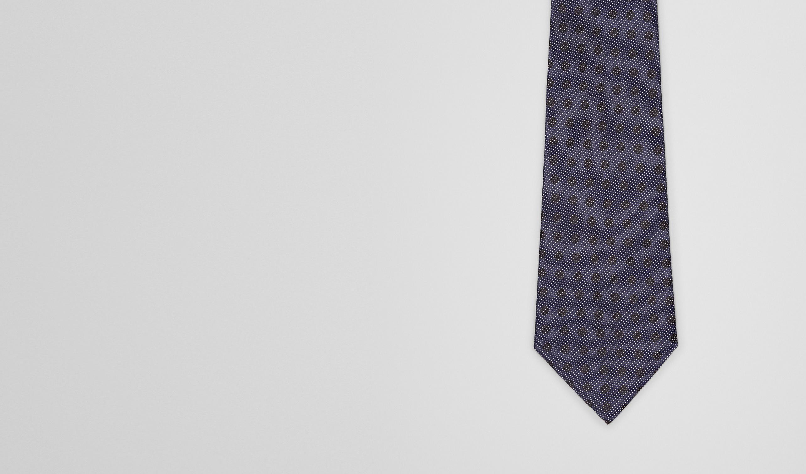 BOTTEGA VENETA Tie U Sapphire Black Silk Tie pl
