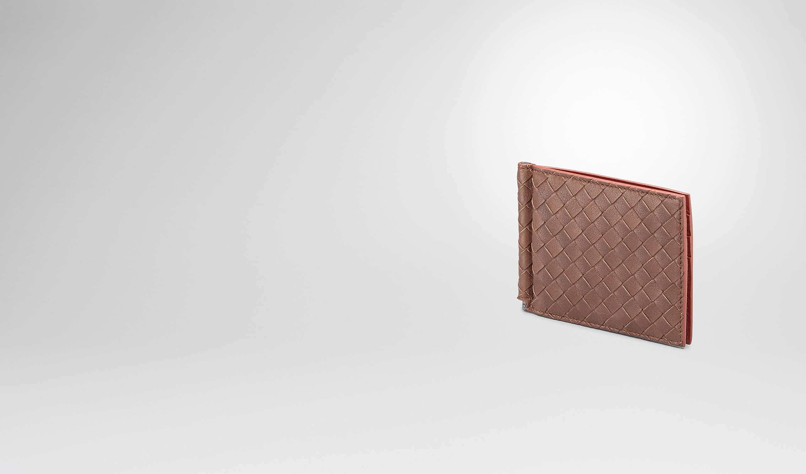 BOTTEGA VENETA Faltbares Portemonnaie U PORTEMONNAIE AUS GEWASCHENEM VINTAGE INTRECCIATO EDOARDO UND BURNT RED pl