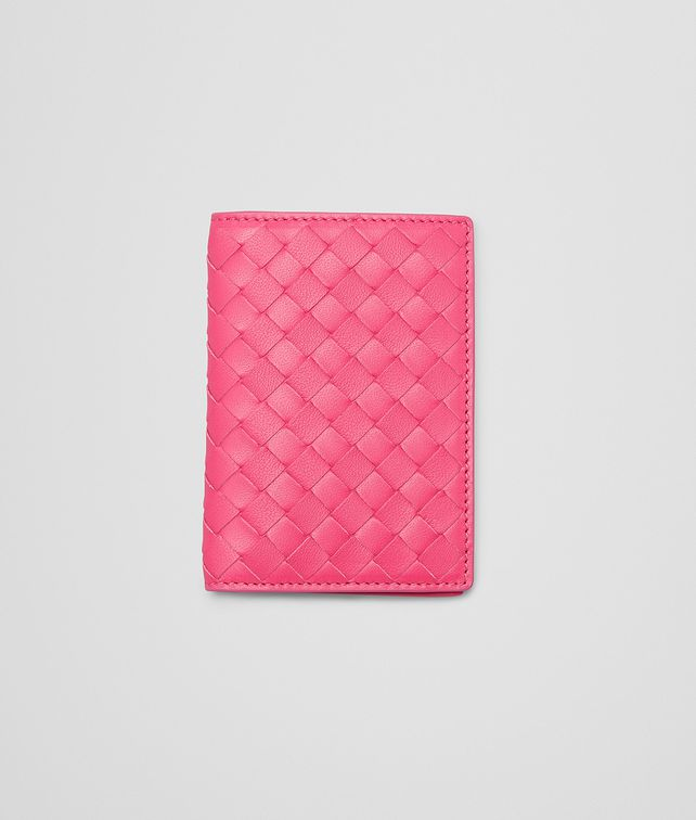 BOTTEGA VENETA ROSA SHOCK INTRECCIATO NAPPA CARD CASE Other Leather Accessory E fp