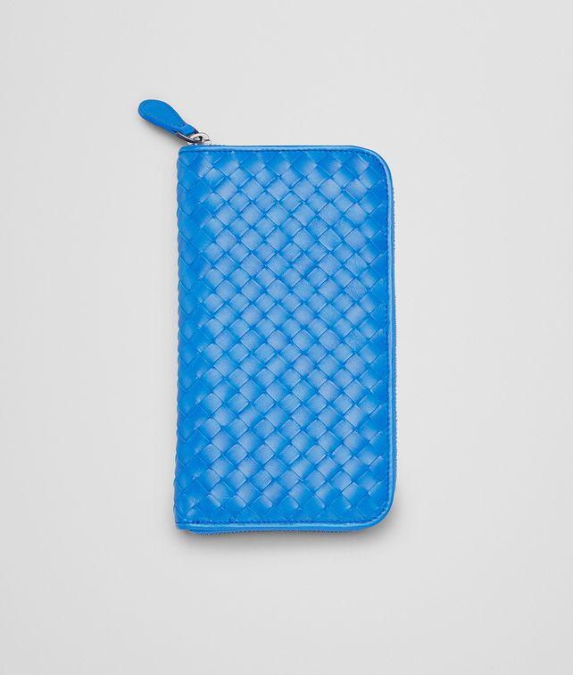 BOTTEGA VENETA Portemonnaie MIT ZIP AUS VN-LEDER INTRECCIATO SIGNAL BLUE Portemonnaie mit Zip U fp