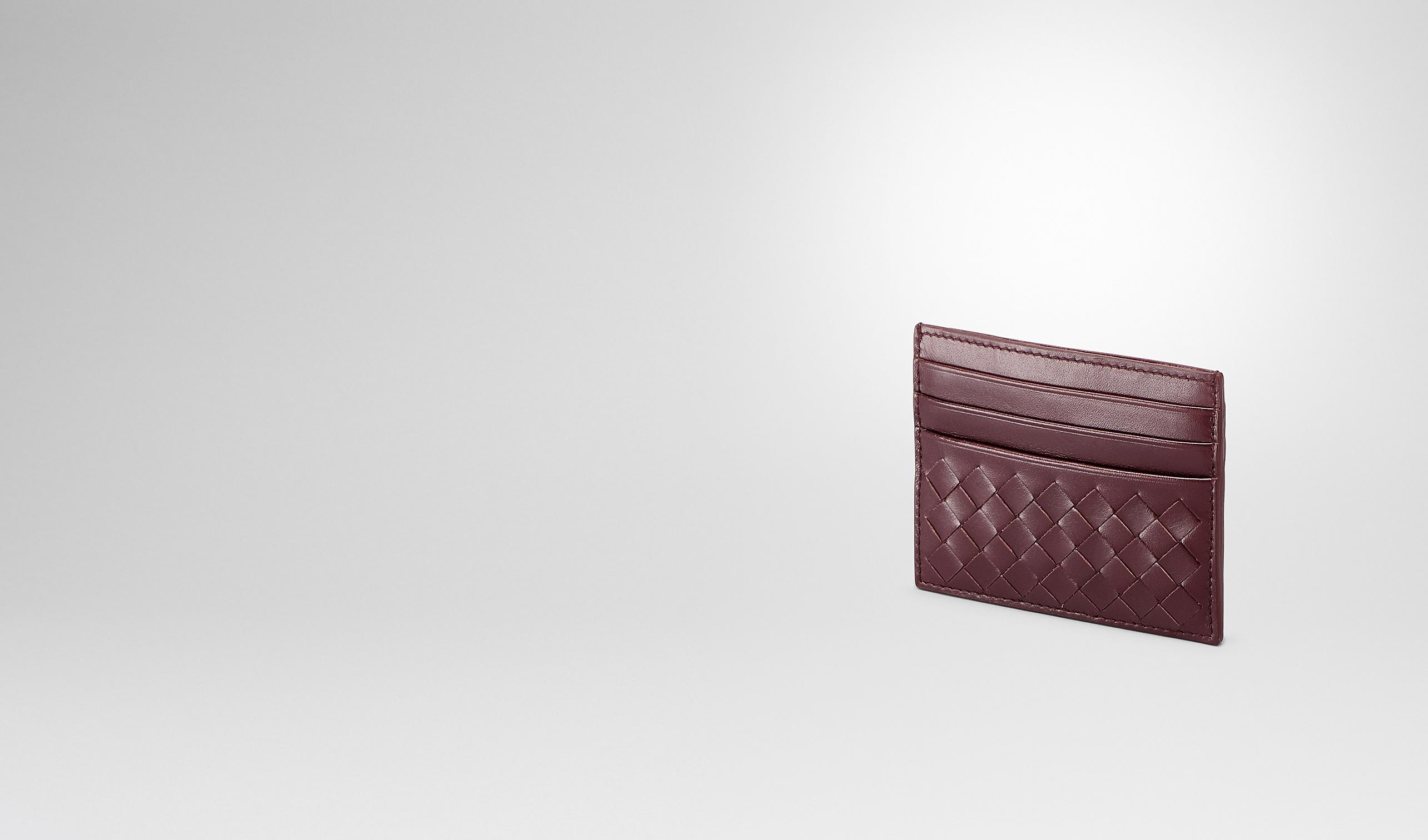 BOTTEGA VENETA Kartenetui & Geldbörse U KARTENETUI AUS VN-LEDER INTRECCIATO AUBERGINE pl