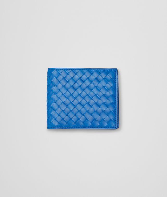 BOTTEGA VENETA PORTEFEUILLE SIGNAL BLUE EN CUIR VN INTRECCIATO Portefeuille à deux volets U fp