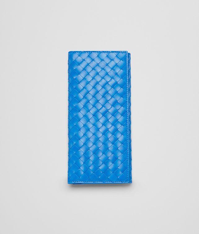 BOTTEGA VENETA Signal Blue Intrecciato Vn Continental Wallet Continental Wallet U fp