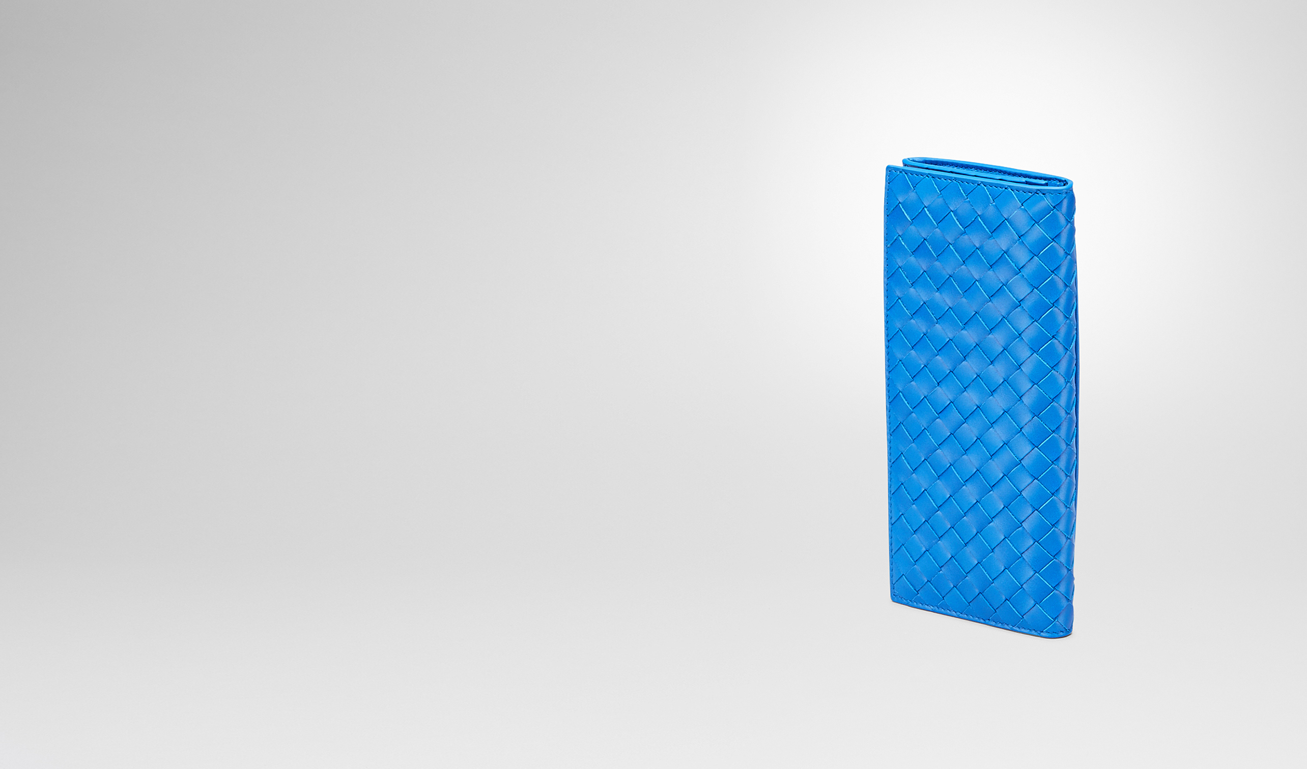 BOTTEGA VENETA Continental Wallet U Signal Blue Intrecciato Vn Continental Wallet pl