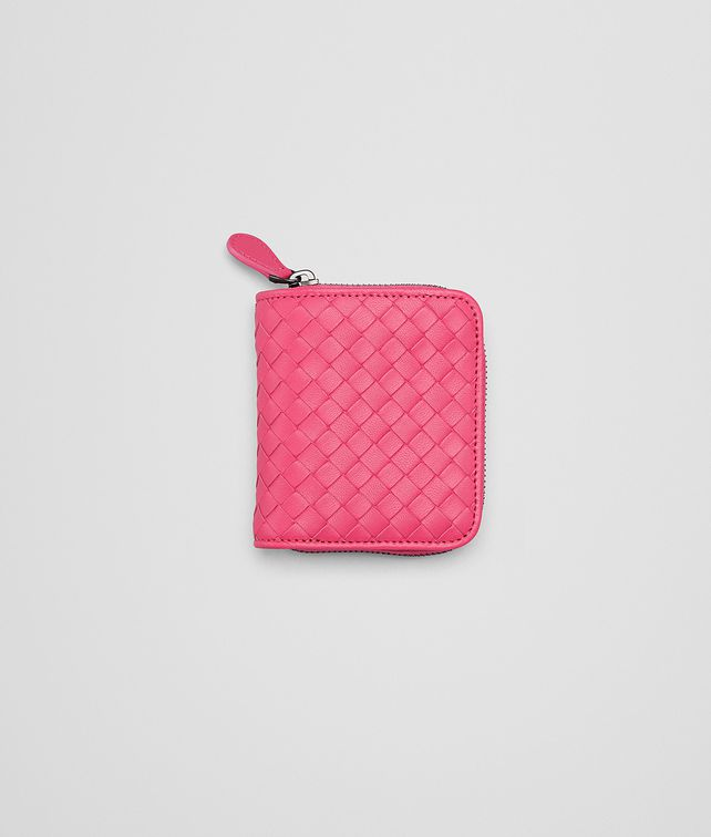 BOTTEGA VENETA ROSA SHOCK INTRECCIATO NAPPA MINI WALLET Mini Wallet or Coin Purse D fp