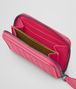 BOTTEGA VENETA Rosa Shock Intrecciato Nappa Coin Purse Mini Wallet or Coin Purse D ap