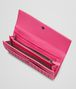 BOTTEGA VENETA Rosa Shock Intrecciato Washed Lambskin Continental Wallet Continental Wallet D ap