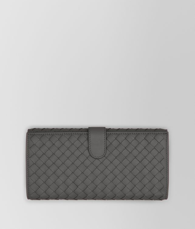 BOTTEGA VENETA CONTINENTAL PORTEMONNAIE AUS INTRECCIATO NAPPA IN NEW LIGHT GREY Continental Portemonnaie D fp