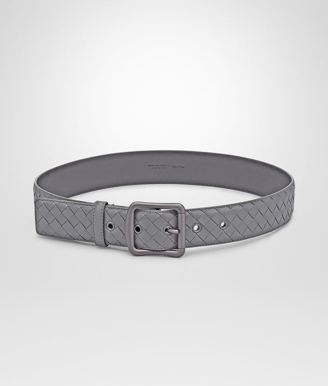 BOTTEGA VENETA NEW LIGHT GREY INTRECCIATO NAPPA BELT Belt D fp