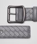 BOTTEGA VENETA NEW LIGHT GREY INTRECCIATO NAPPA BELT Belt D rp