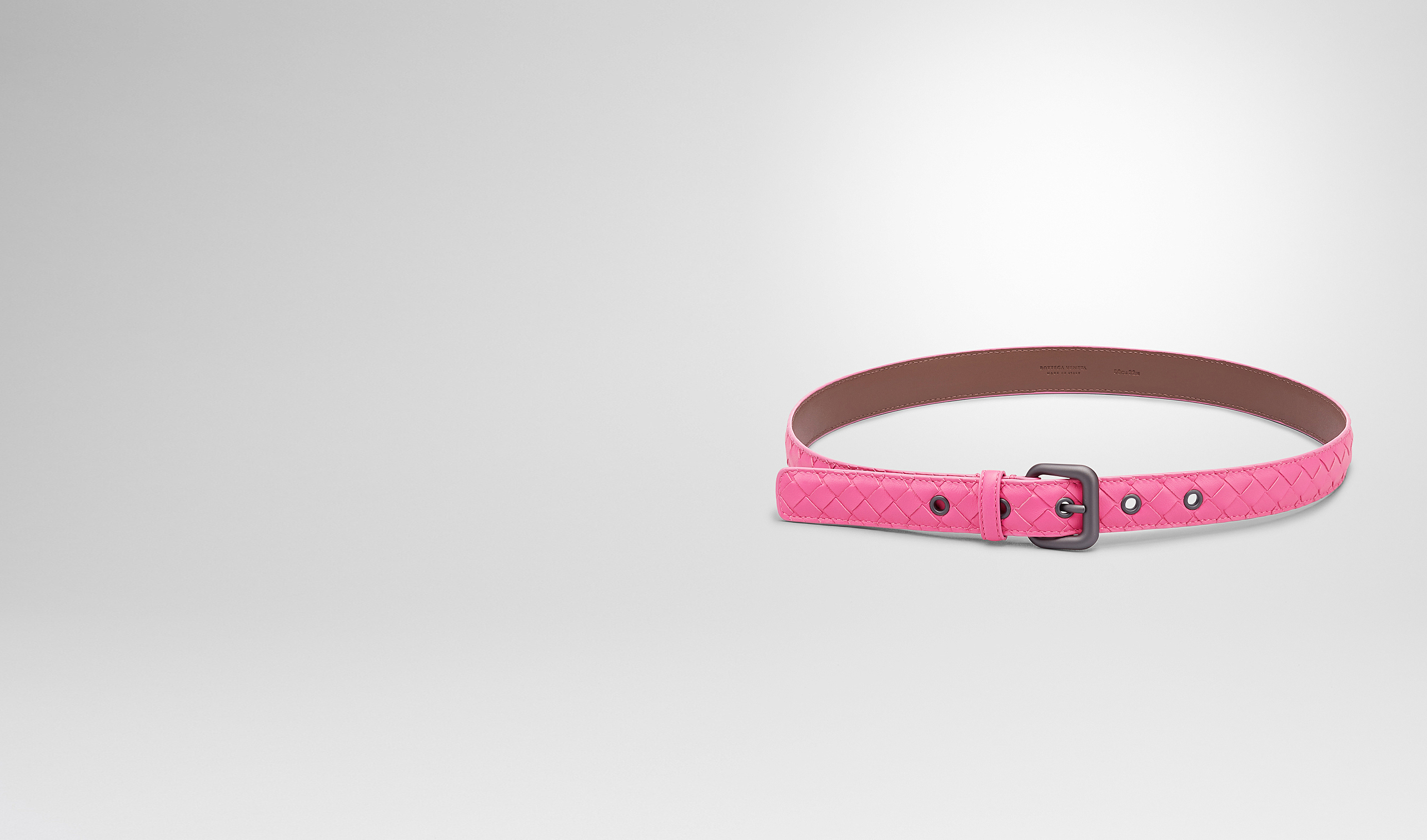 BOTTEGA VENETA Belt D ROSA SHOCK INTRECCIATO NAPPA BELT pl
