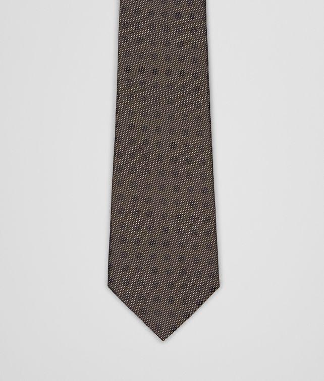 BOTTEGA VENETA Loden Black Silk Tie Tie U fp
