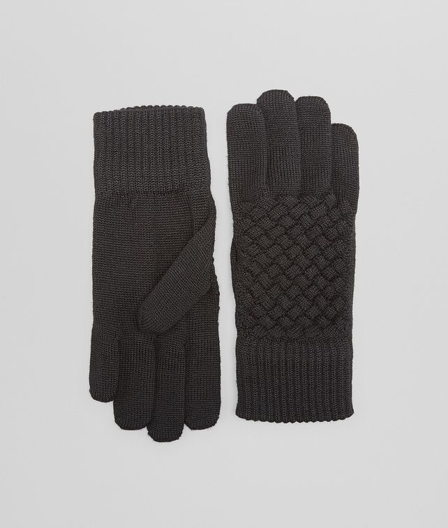 BOTTEGA VENETA GLOVE IN NERO WOOL Scarf or other D fp