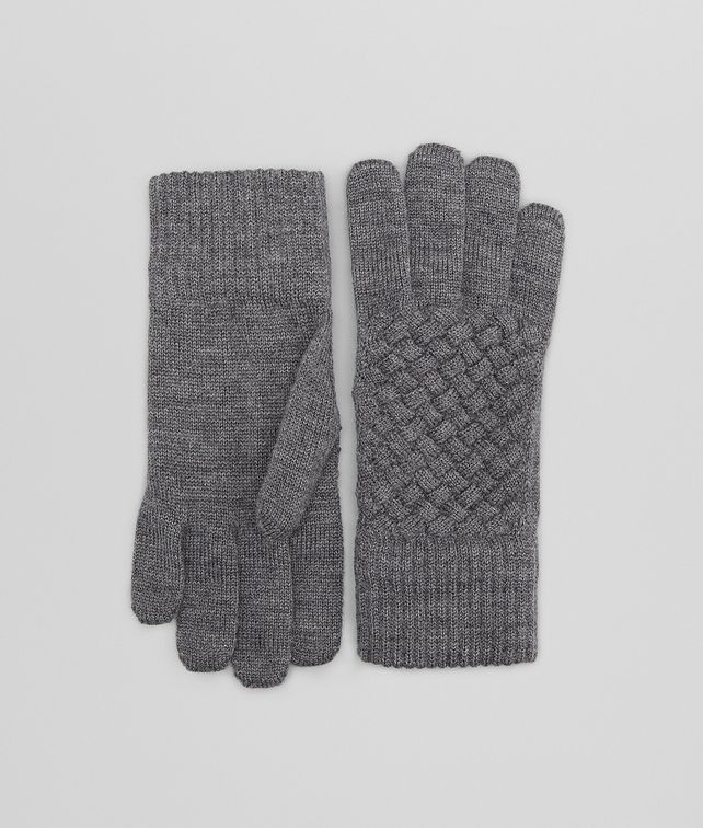 BOTTEGA VENETA Anthracite Wool Gloves Scarf or other D fp