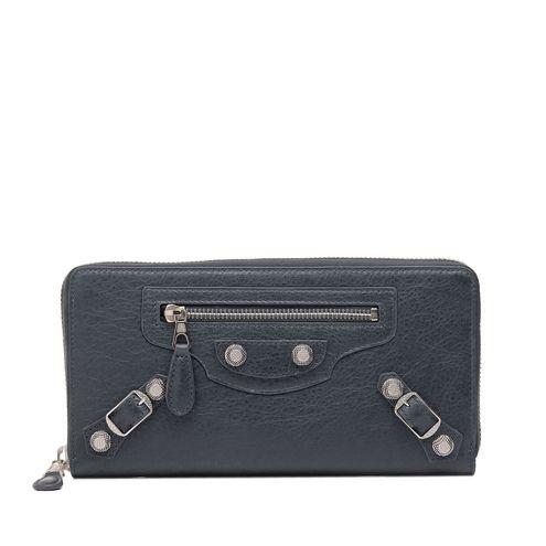 BALENCIAGA Wallet D Balenciaga Giant Silver Continental Zip Around f