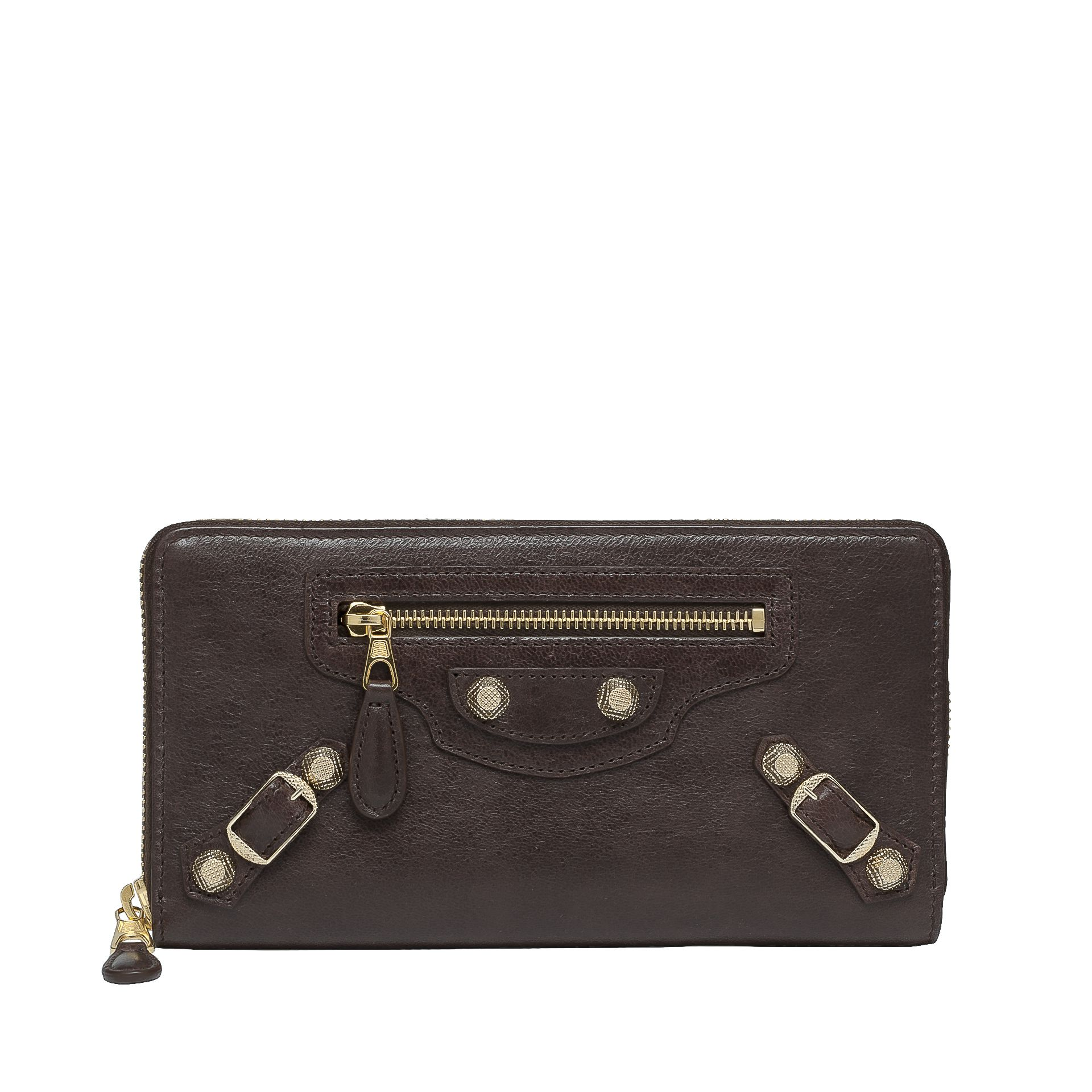 BALENCIAGA Giant Gold Continental Zip Around Giant Continental Wallet D f