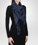 BOTTEGA VENETA MIDNIGHT BLUE SILK   FOULARD Scarf or other D rp
