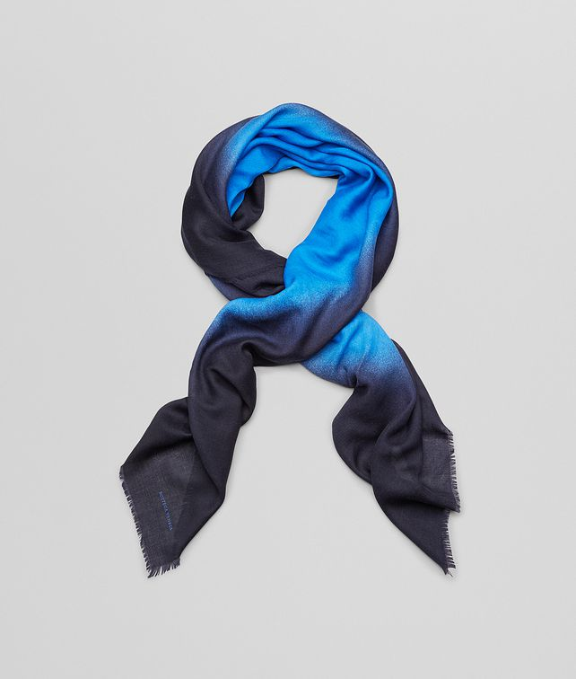 BOTTEGA VENETA Royal Blue Wool Scarf Scarf or other D fp