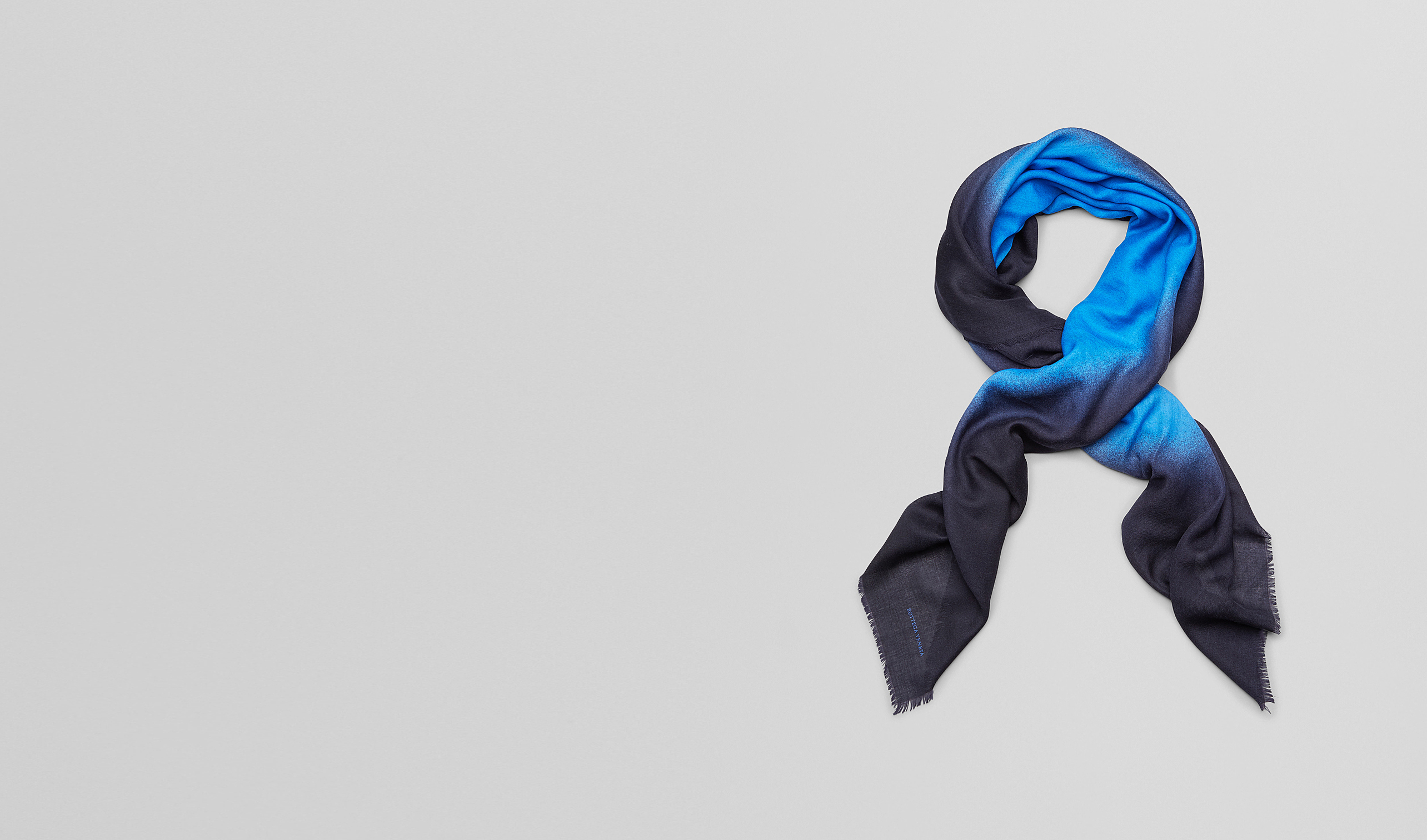 BOTTEGA VENETA Scarf or other D Royal Blue Wool Scarf pl