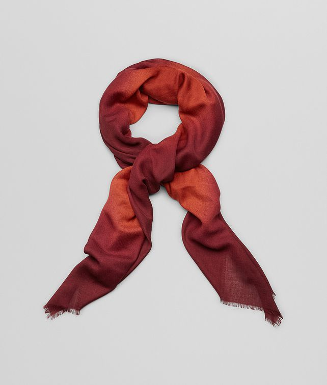 BOTTEGA VENETA Sienna Bordeaux Wool Scarf Scarf or other D fp