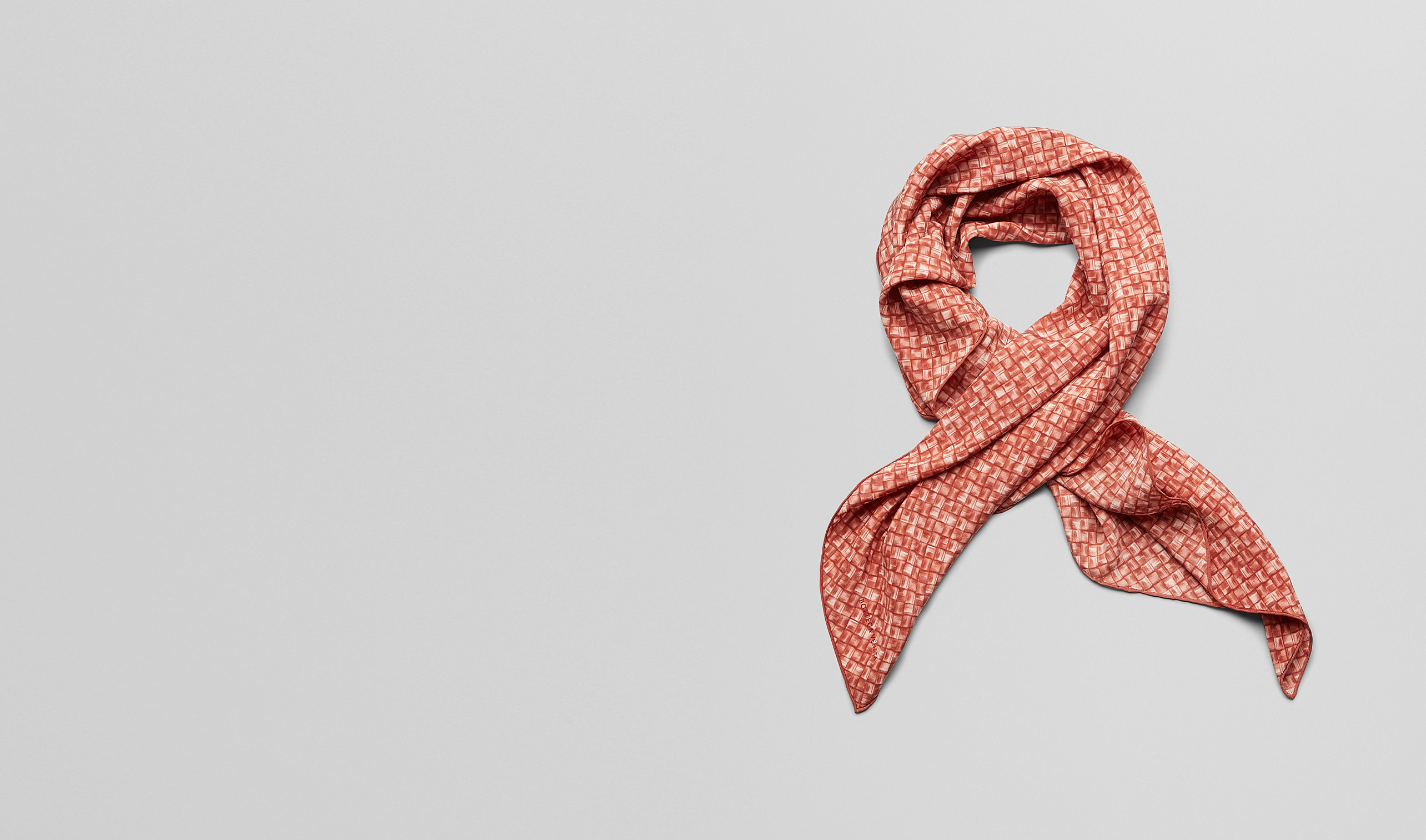 BOTTEGA VENETA Scarf or other D SIENNA RED SILK   FOULARD pl