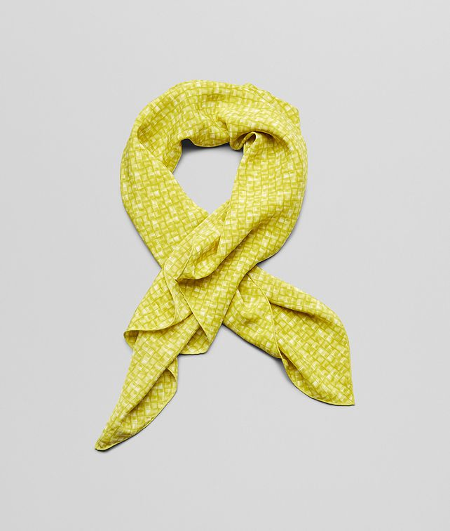 BOTTEGA VENETA CITRON LIGHT GREEN  SILK   FOULARD Scarf or other D fp