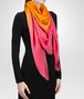 BOTTEGA VENETA TANGERINE PINK WOOL SCARF Scarf or other D rp