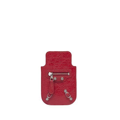 BALENCIAGA Tech accessories D Balenciaga Giant Silver Smart Phone Pouch f