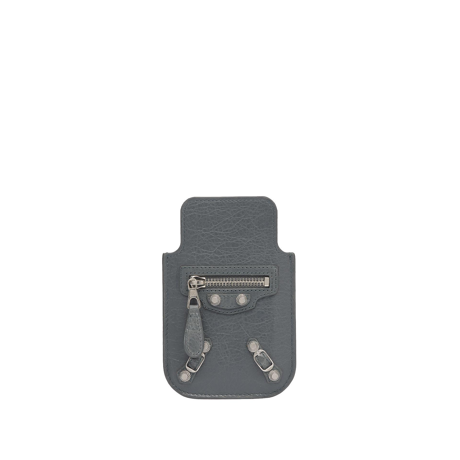 BALENCIAGA Balenciaga Giant Silver Smart Phone Pouch Tech accessories D f