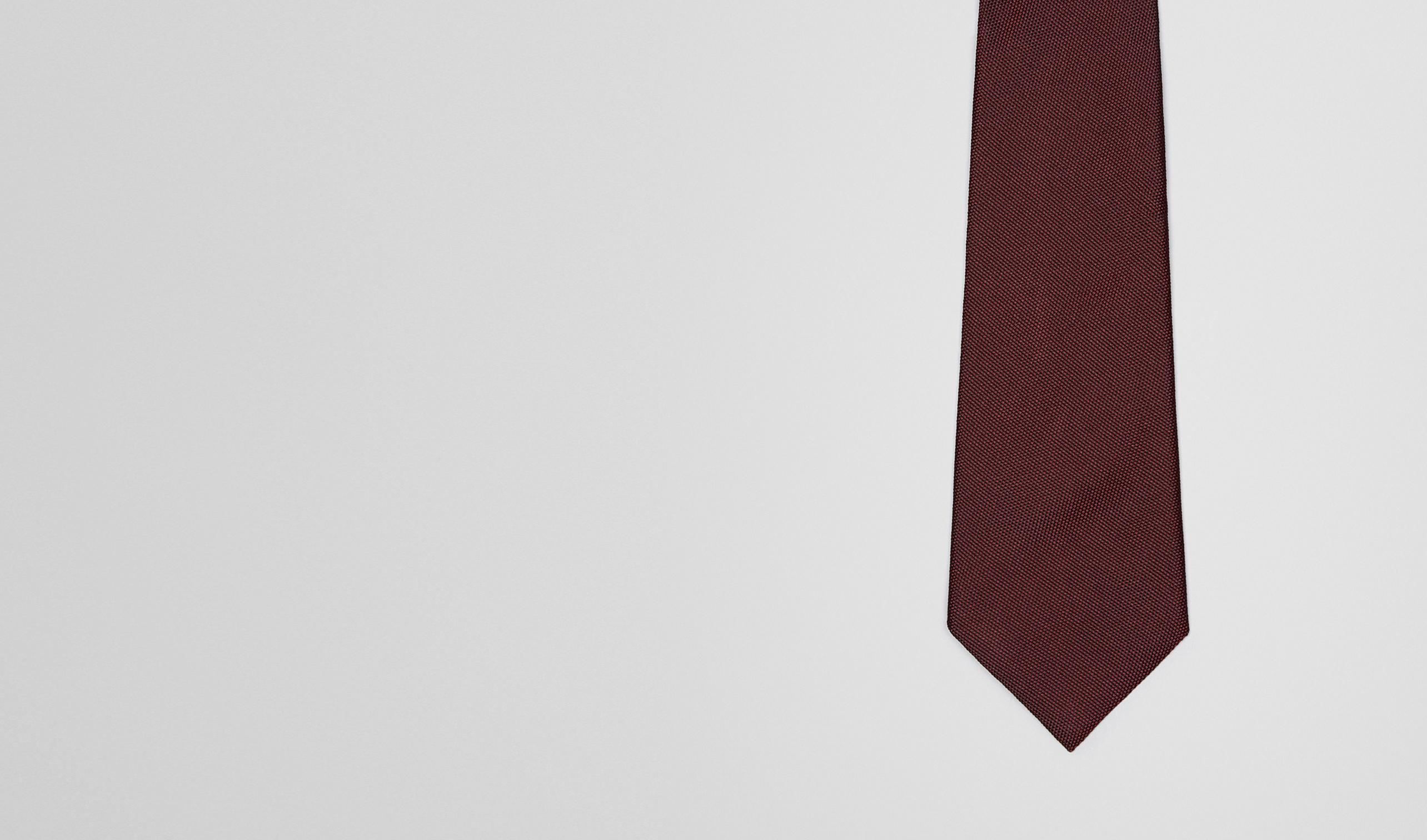 BOTTEGA VENETA Tie U Amaranth Silk Tie pl