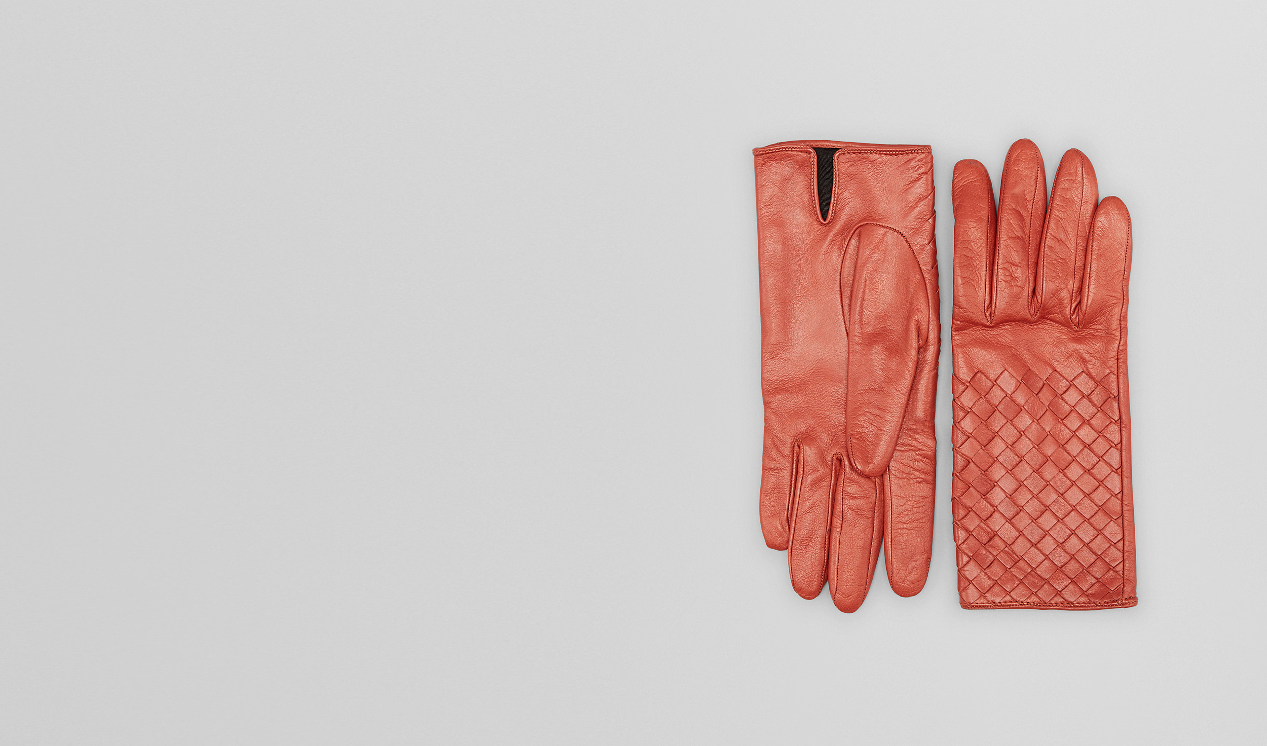 BOTTEGA VENETA Scarf or other D Burnt Red Intrecciato Nappa Gloves pl