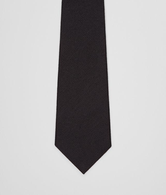 BOTTEGA VENETA Nero Wool Silk Tie Tie U fp