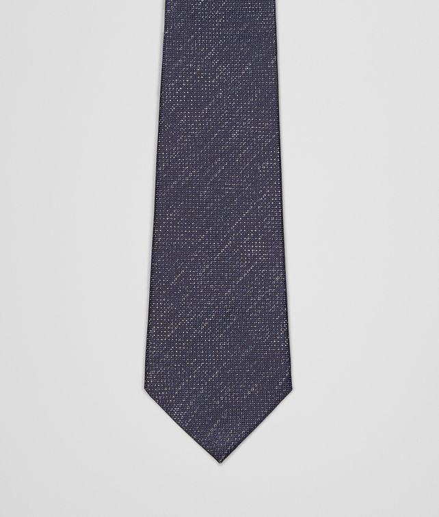 BOTTEGA VENETA SEIDENKRAWATTE ROYAL UND DARK GREY Krawatte U fp