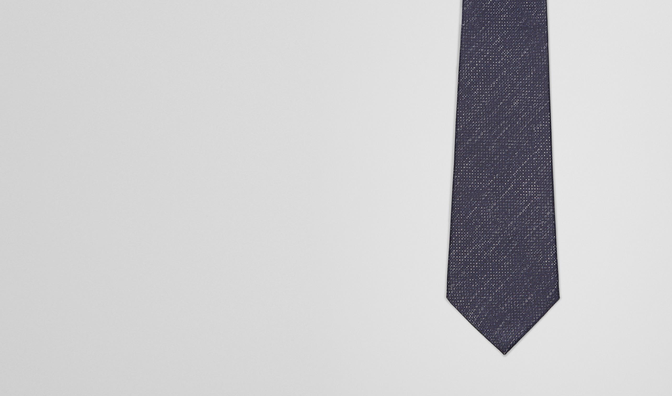 BOTTEGA VENETA Krawatte U SEIDENKRAWATTE ROYAL UND DARK GREY pl