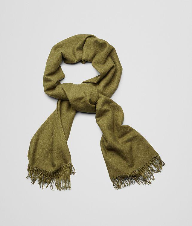 BOTTEGA VENETA Olive Cashmere Silk Scarf Scarf or Hat or Glove U fp
