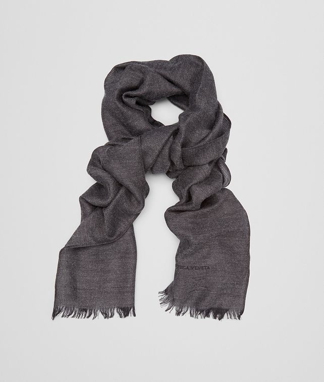 BOTTEGA VENETA SCARF IN ANTHRACITE BLACK CASHMERE WOOL SILK Scarf or other E fp