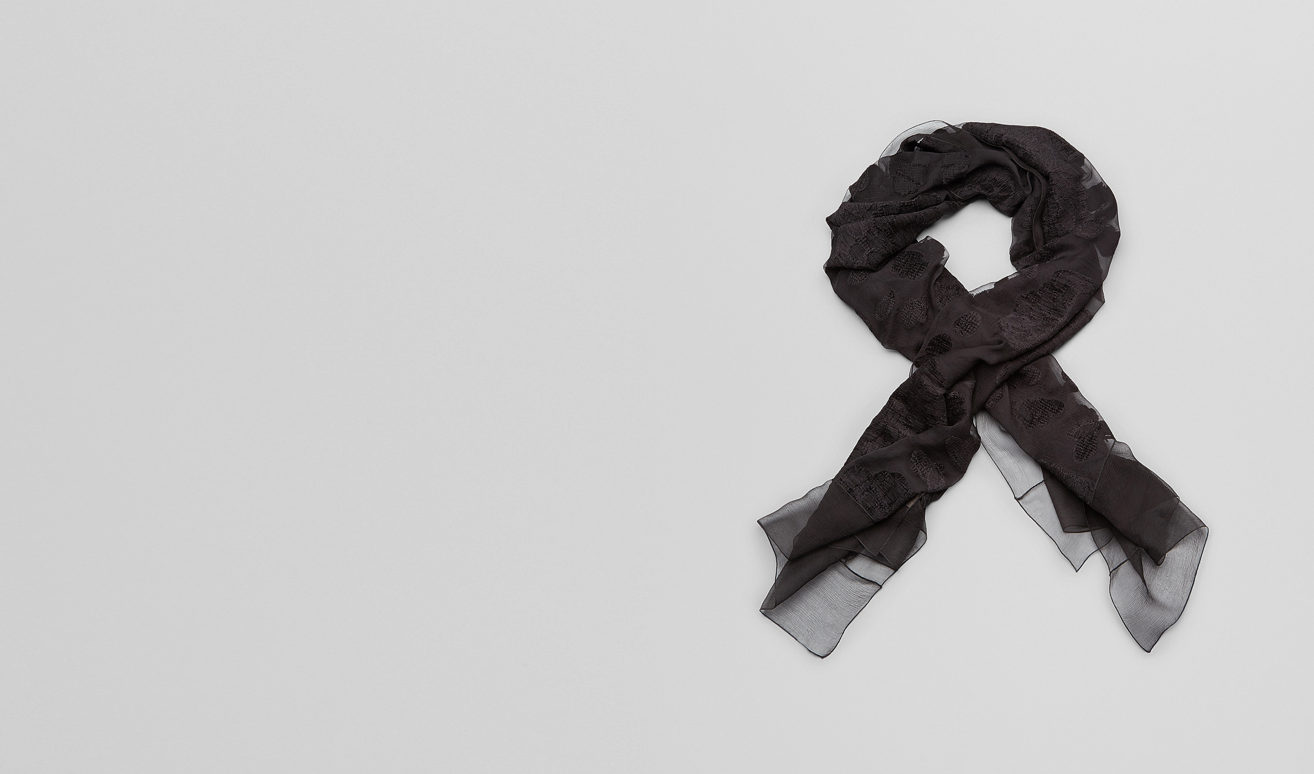 BOTTEGA VENETA Scarf or other D NERO FIL COUPEé SILK SCARF pl