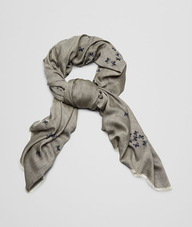 BOTTEGA VENETA Flannel Blue Cashmere Scarf Scarf or Hat or Glove U fp