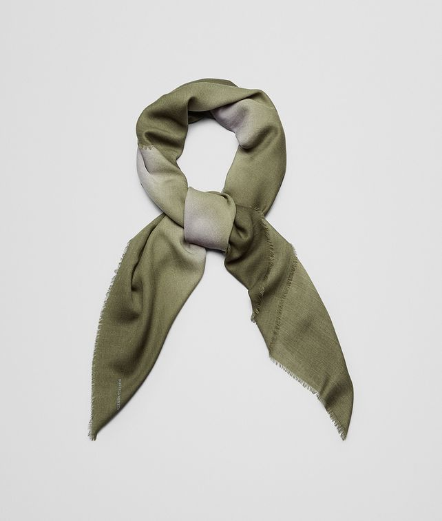 BOTTEGA VENETA SCARF IN FLANNEL DARK GREEN WOOL Scarf or other E fp