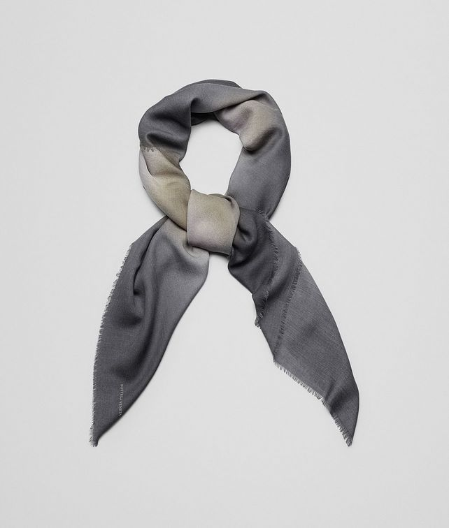BOTTEGA VENETA SCARF IN SAND BLACK WOOL Scarf or other E fp