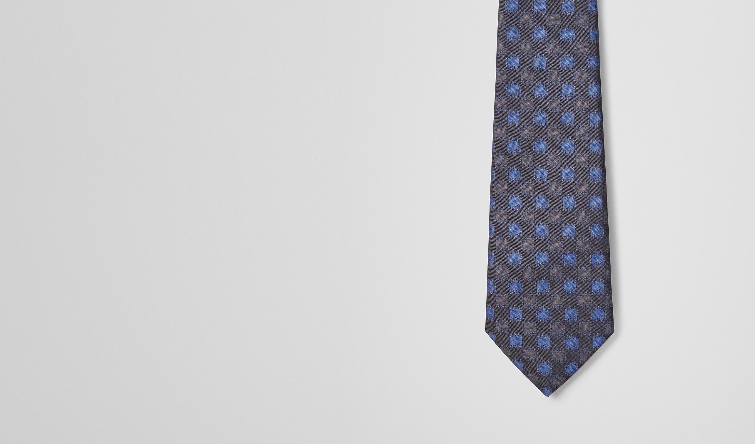 BOTTEGA VENETA Cravate U CRAVATE BLACK BLUE EN SOIE pl