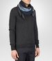 BOTTEGA VENETA Midnight Blue Dark Grey Cashmere Silk Scarf Scarf or Hat or Glove U rp