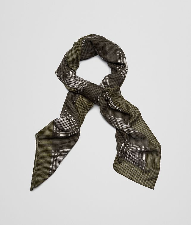BOTTEGA VENETA Olive Dark Green Cashmere Wool Silk Scarf Scarf or Hat or Glove U fp