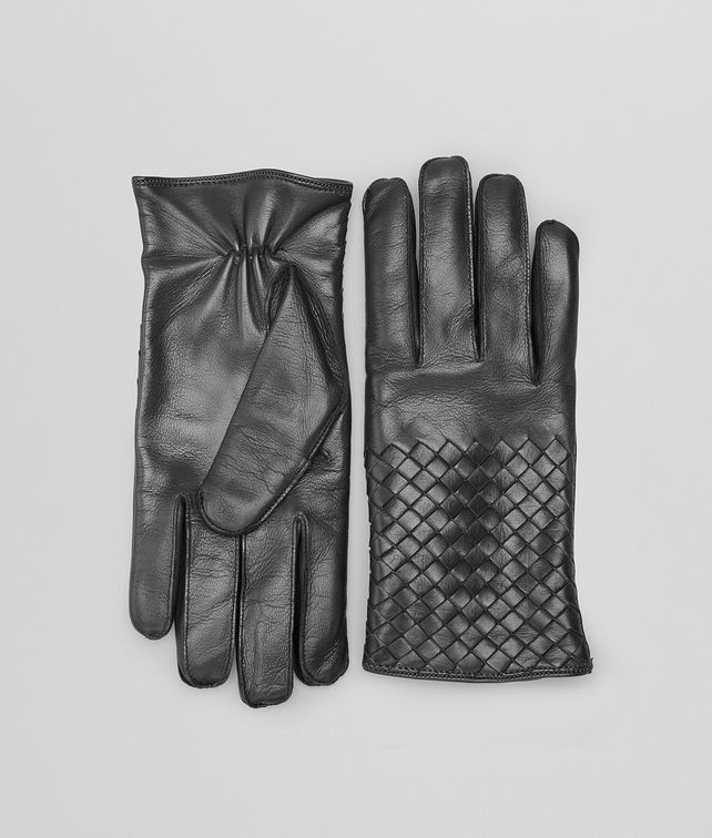 BOTTEGA VENETA GLOVES IN DARK GREY NAPPA  Hat or gloves Man fp